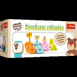 Drewniane edukacyjne zwierzaki figuraki  Trefl