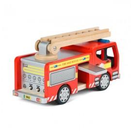 Drewniany wóż strażacki z akcesoriami Tidlo