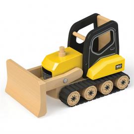 Drewniany pojazd budowlany spychacz Tidlo