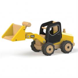 Drewniany pojazd budowlany buldożer Tidlo