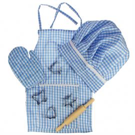 Fartuszek i akcesoria kucharskie niebieskie Bigjigs