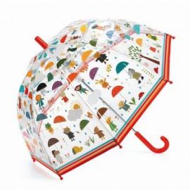 Parasol przeciwdeszczowy w deszczu, Djeco
