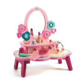 Drewniana toaletka z akcesoriami, Djeco
