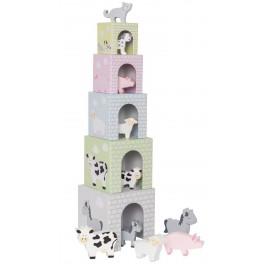 Piramida, wieża ze zwierzątkami farma, Jabadabado