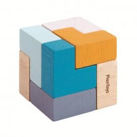 Mini układanka logiczna, sześciann Plan Toys