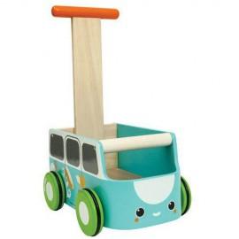 Drewniany chodzik niebieski van - Plan Toys