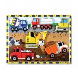 Drewniane Puzzle pojazdy budowlane Melissa&Doug