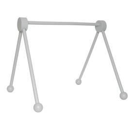 Drewniany stojak edukacyjny -baby gym szary
