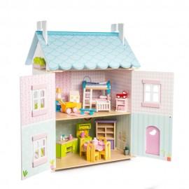 Drewniany domek dla lalek Blue Bird LE TOY VAN