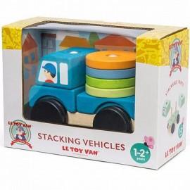 Drewniana ciężarówka z klockami, Le Toy Van