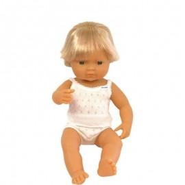 Pachnąca lalka chłopiec Europejczyk, Miniland 40cm