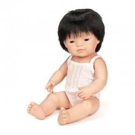 Pachnąca lalka chłopiec Azjata, Miniland 40cm