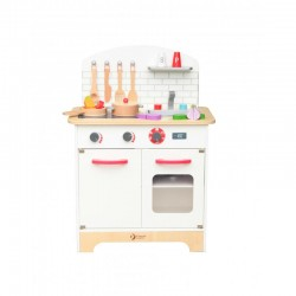 Drewniana kuchnia białą z akcesoriami, Classic World
