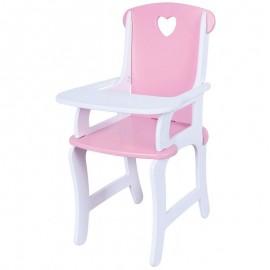 Drewniane krzesełko do karmienia lalek, Viga