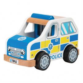 Drewniany radiowóz policyjny  Tidlo