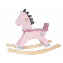 Koń na biegunach pastelowy róż,  JABADABADO