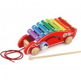 Kolorowe cymbałki samochód wyścigowy, Viga Toys