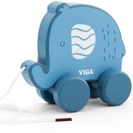Drewniany słonik do ciągnięcia - VIGA