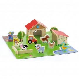 Drewniana farma dla zwierząt 3D, Viga