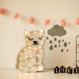 Kotek -drewniana lampa LED Lights My Love