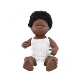 Pachnąca lalka chłopiec Afrykańczyk, Miniland 40cm