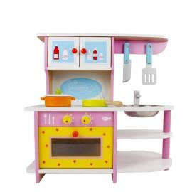 Drewniana mini kuchnia dla dzieci -urocza kuchenka