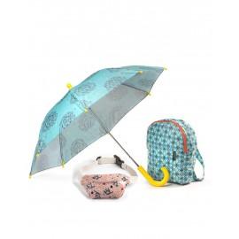 Parasol, plecak i nerka -zestaw wild Minikane